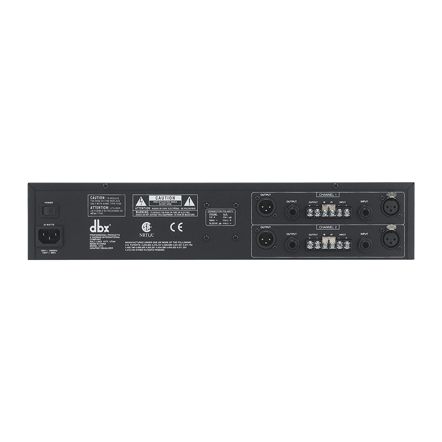 DBX 1215 Dual 15 Band Graphic Equalizer
