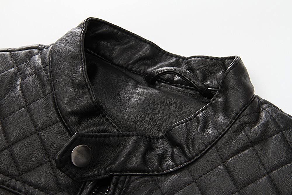 LJYH Boys New Motocycle Faux Leather Jacket Classic Leather Spring Coat