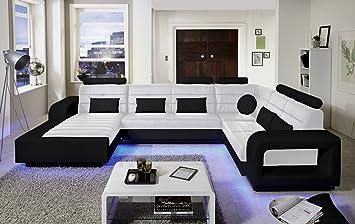 Sam Design Wohnlandschaft New York Mit Led Beleuchtung In Weiß