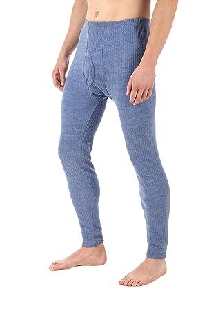 térmica Unterhose Pantalones largos de invierno esquí Pantalones calientes ropa interior algodón Hombre, azul,