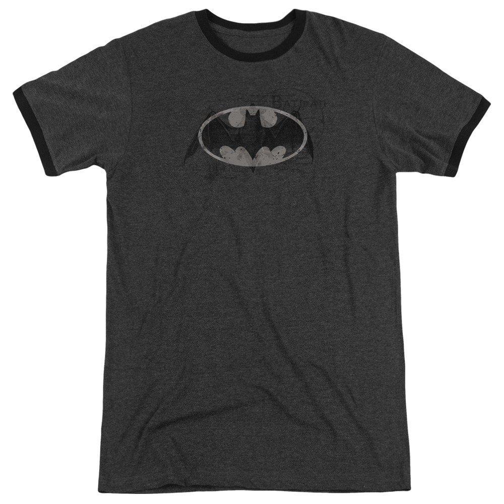 Shirt S Washed Bat Logo Adult Ringer T Sons of Gotham Batman