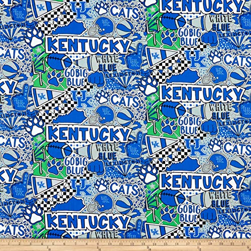 Sykel Enterprises NCAA Kentucky Pop Art Cotton Multi, Fabric by the Yard