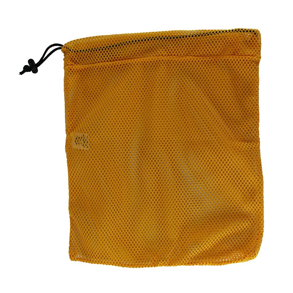 SGT KNOTS Mesh Bag (Medium) 550 Paracord Drawstring Bag - Ventilated Washable Reusable Stuff Sack for Laundry, Gym Clothes, Swimming, Camping, Diving, Travel (24 inch x 30 inch - Gold)