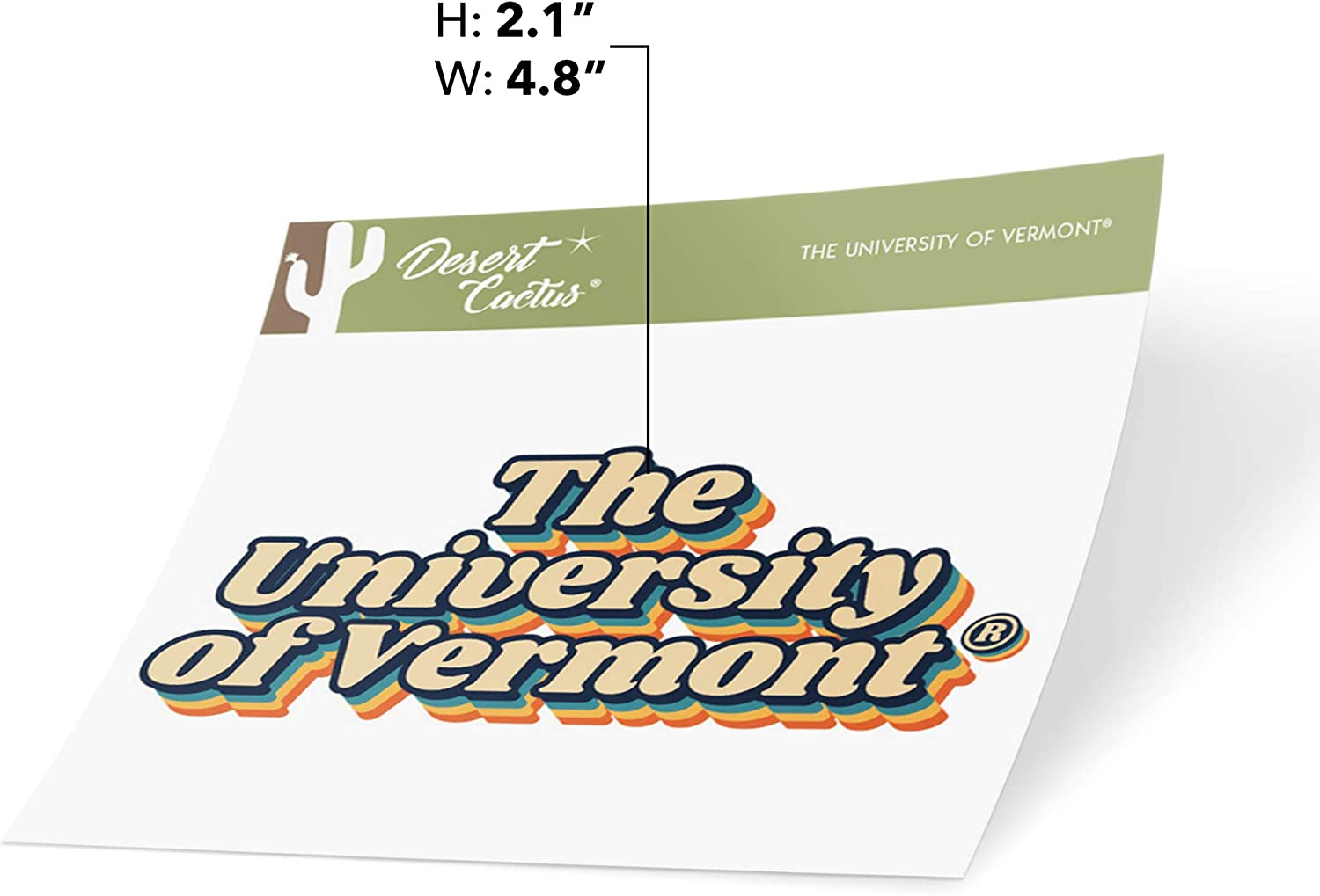 The University of Vermont UVM Catamounts NCAA Vinyl Decal Laptop Water Bottle Car Scrapbook 70s Name Sticker