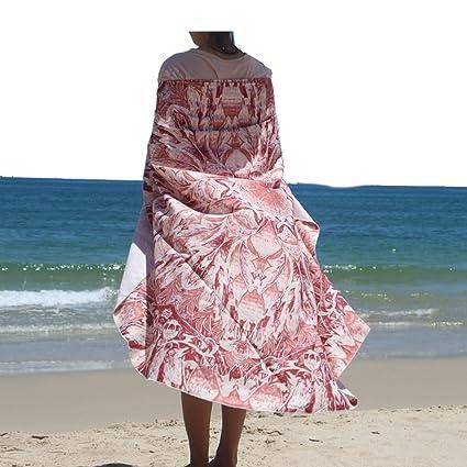 Fashion Round alfombrilla de calaveras rodeado toalla de playa (playa Roundie toalla de círculo redondo