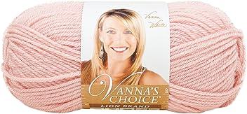 Lion Brand Yarn 860-101A Vanna's Choice Yarn, Pink