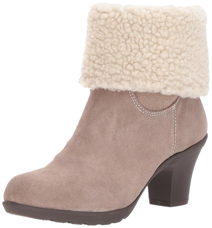Anne Klein Women's Heward Suede Fashion Boot B01MDKSZVR 7 B(M) US Taupe Suede