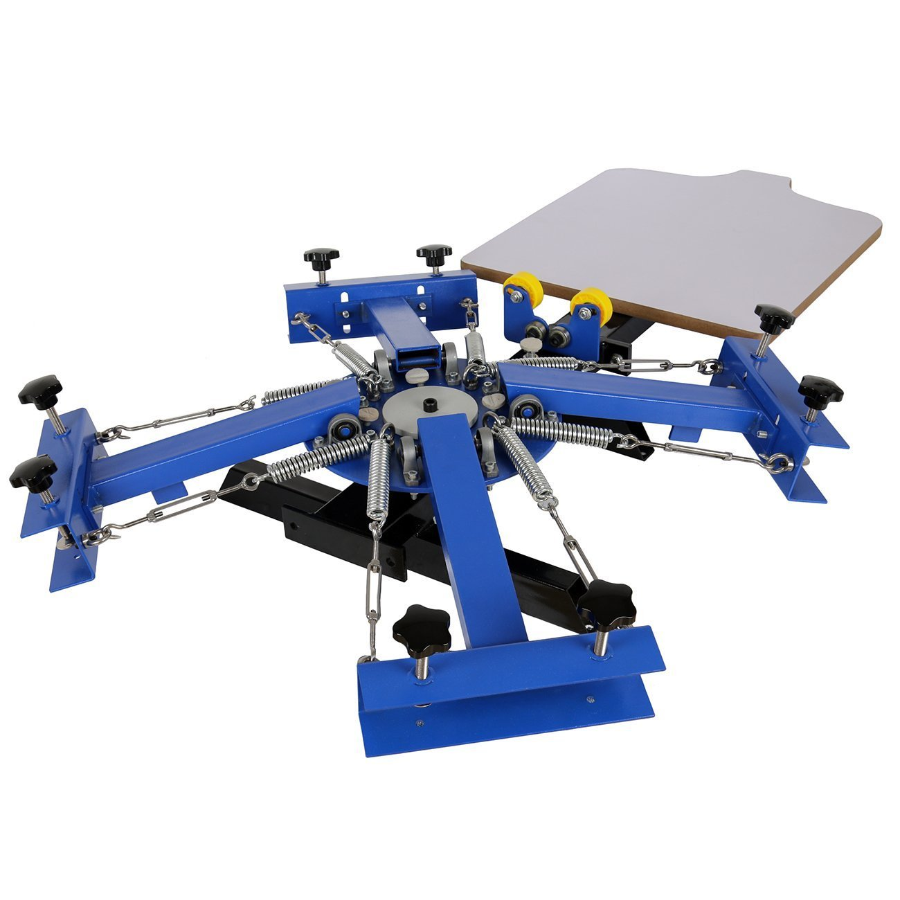 21.7x17.7 Silk Screen Printing Press Machine 4 Color 1 Station T-shirt Printing Machine(Silk Screen Printing Machine)