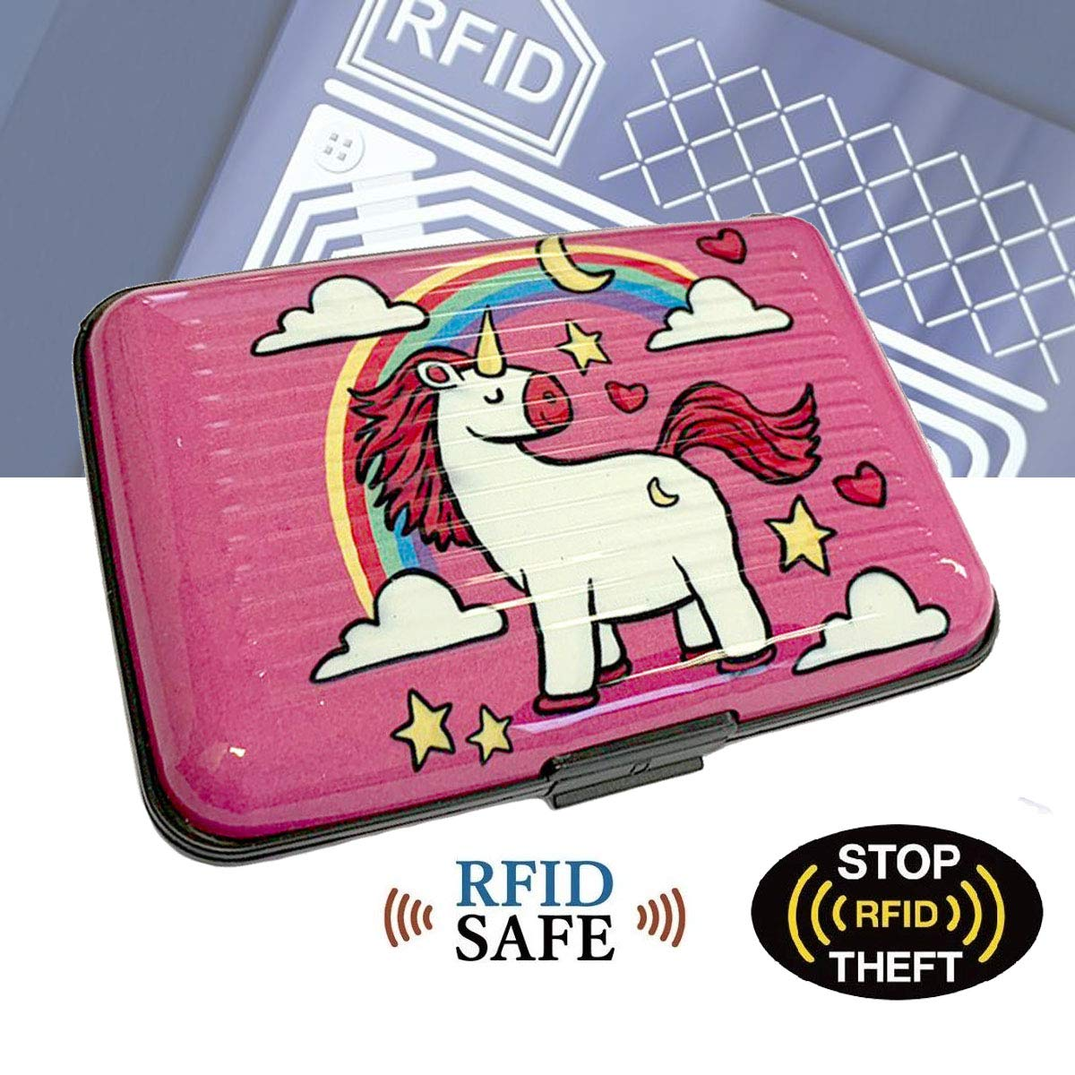 Unicorn Design 01 RFID Blocking Secure Bank Card Holder Lizzy/® Aluminium Credit Card Wallet Holder Unisex