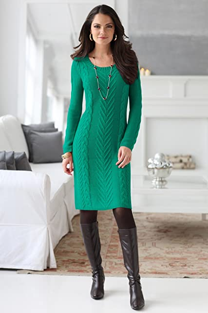 Chadwicks Cable-Knit Sweaterdress