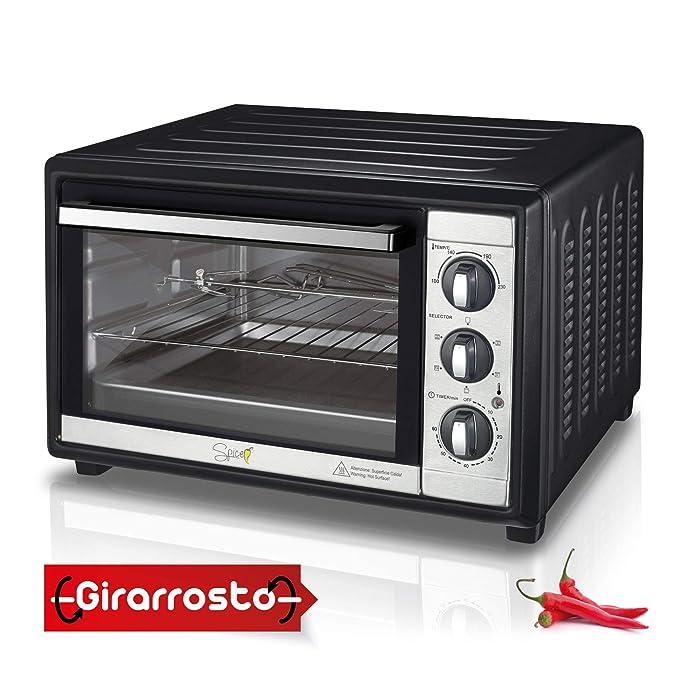50 opinioni per Spice Forno Elettrico Ventilato Habanero con Girarrosto 60 Litri, 2200 Watt, 5