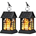 2-Pack Sunklly Metal Flickering Flame Hanging Solar Lights