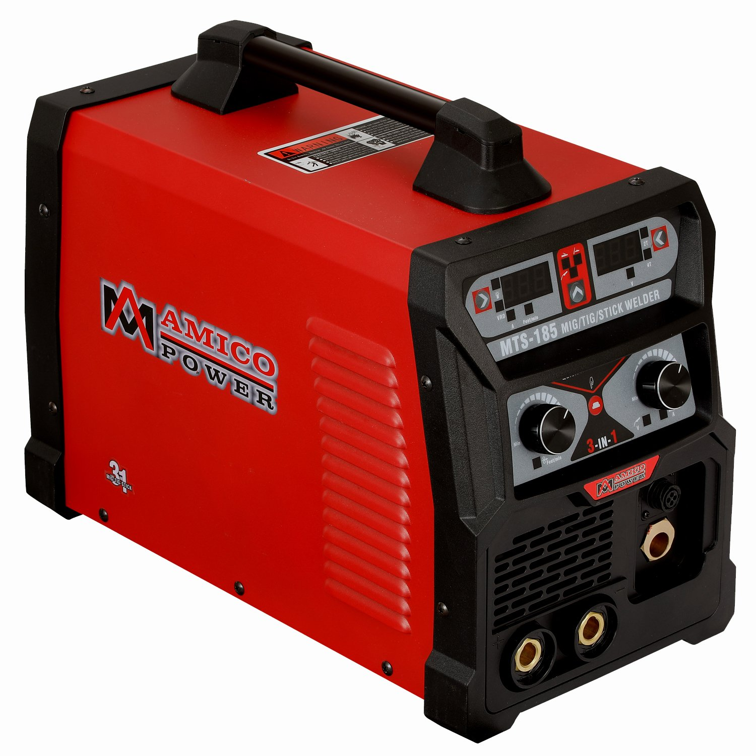 MTS-185, 185 Amp MIG TIG-Torch Stick Arc Combo Welder, Weld Aluminum(MIG) 110/230V Dual Voltage Welding New