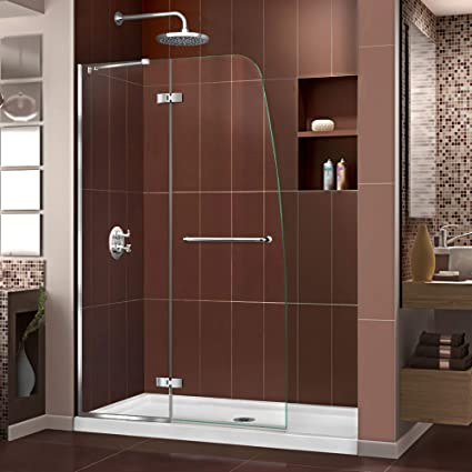DreamLine Aqua Ultra 36 in. D x 48 in. W Kit, with Hinged Shower ...