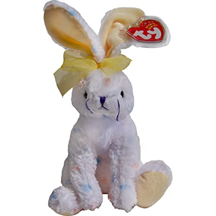 0fd33d474c7 Amazon.com  Carrots the Spotted White Easter Bunny Rabbit - Ty Beanie Babies   Toys   Games