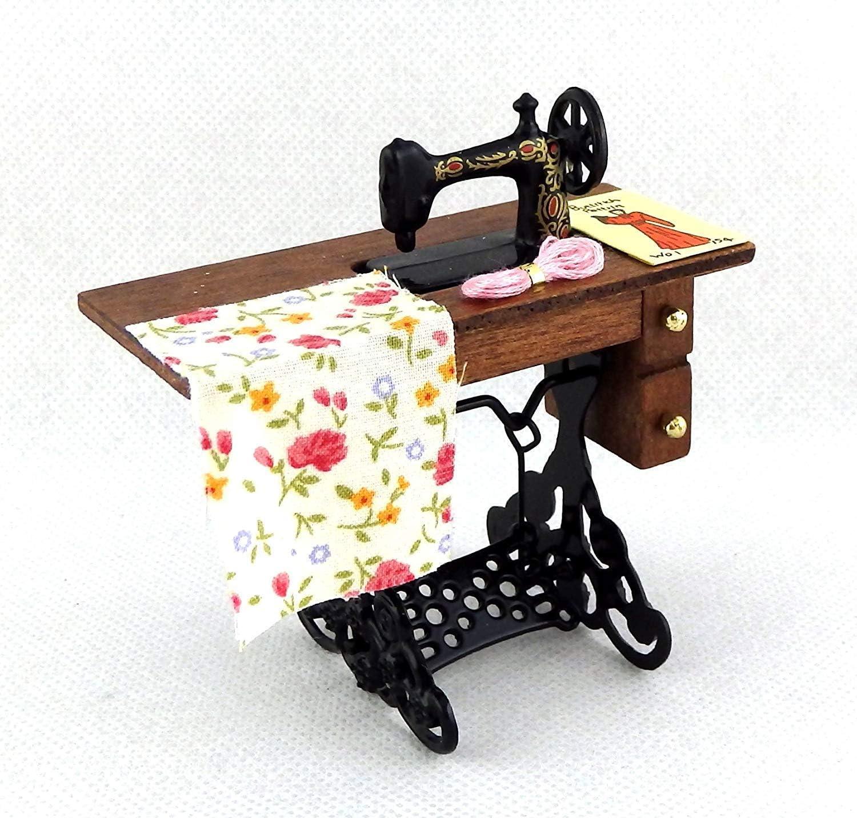 Amazon.es: Melody Jane Casa de Muñecas Antiguo Máquina de Coser ...