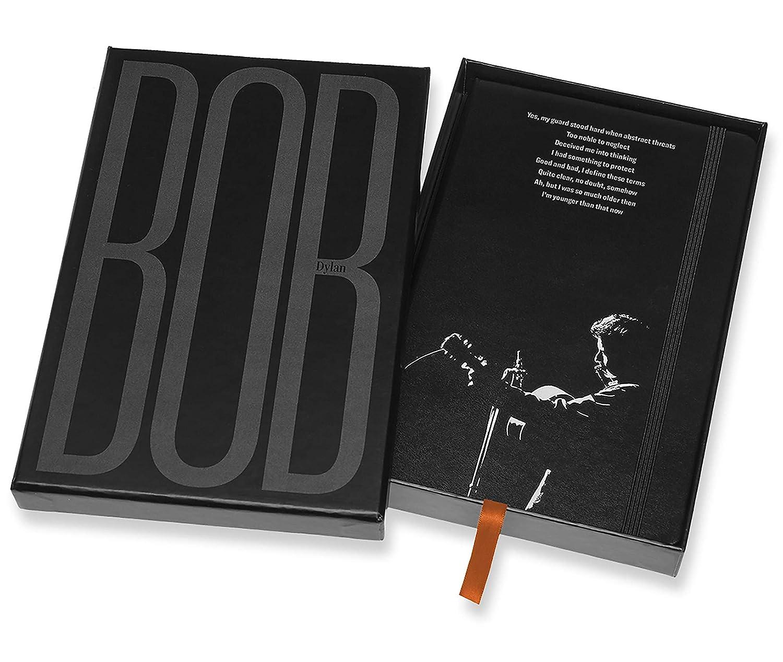 Tama/ño Grande 13 x 21 cm Cuaderno Bob Dylan Edici/ón Limitada Color Morado Tapa Dura 240 P/áginas Moleskine Goma El/ástica y P/áginas con Rayas