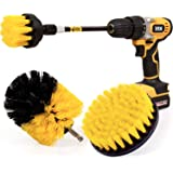 Holikme 4 Pack Drill Brush Power Scrubber Cleaning Brush Extended Long Attachment Set All Purpose Drill Scrub Brushes Kit for