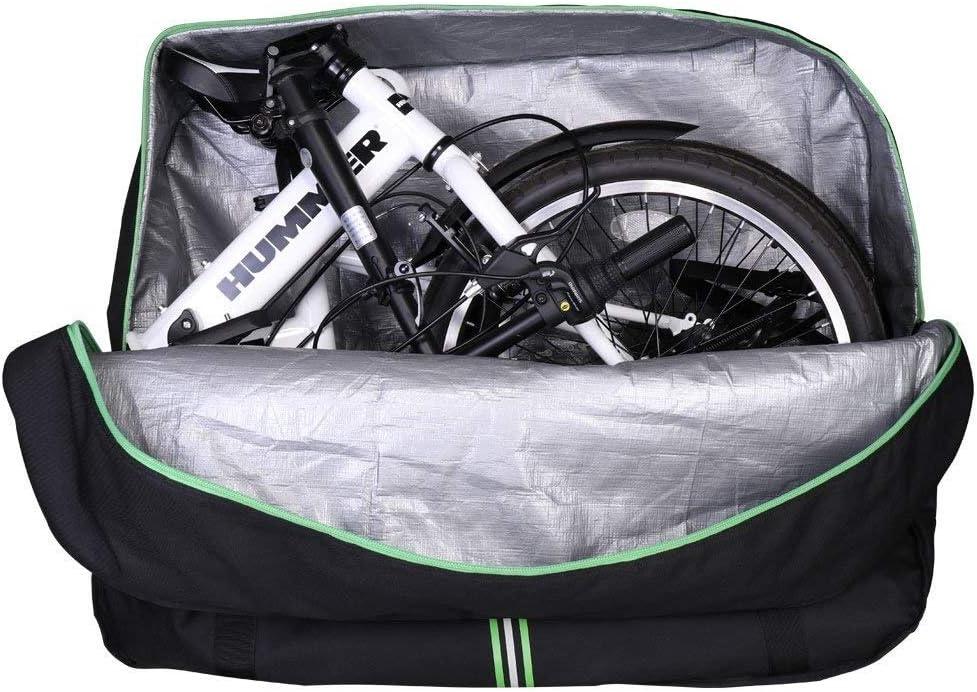 ROCKBROS Bolsa Transporte Almacenamiento para Bicicleta Plegable 14-20 Pulgadas con Mochila Impermeable Anti Golpes para el Envío de Viajes