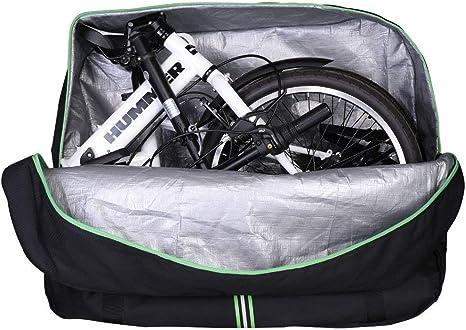 ROCKBROS Bolsa de Transporte para Bicicleta Plegable de 14 hasta 20 Pulgadas Almacenamiento Impermeable con Mochila para Viaje Avión: Amazon.es: Deportes y aire libre