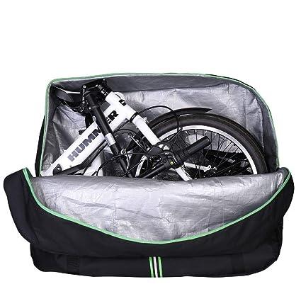 RockBros - Bolsa de transporte con mochila para bicicleta plegable, ideal para viajar en avión