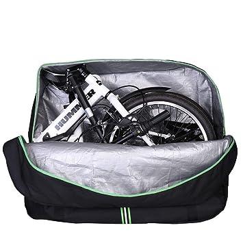 RockBros Bicicleta plegable Bolsa de transporte bicicleta plegable para bicicleta para avión auto 14 hasta 20