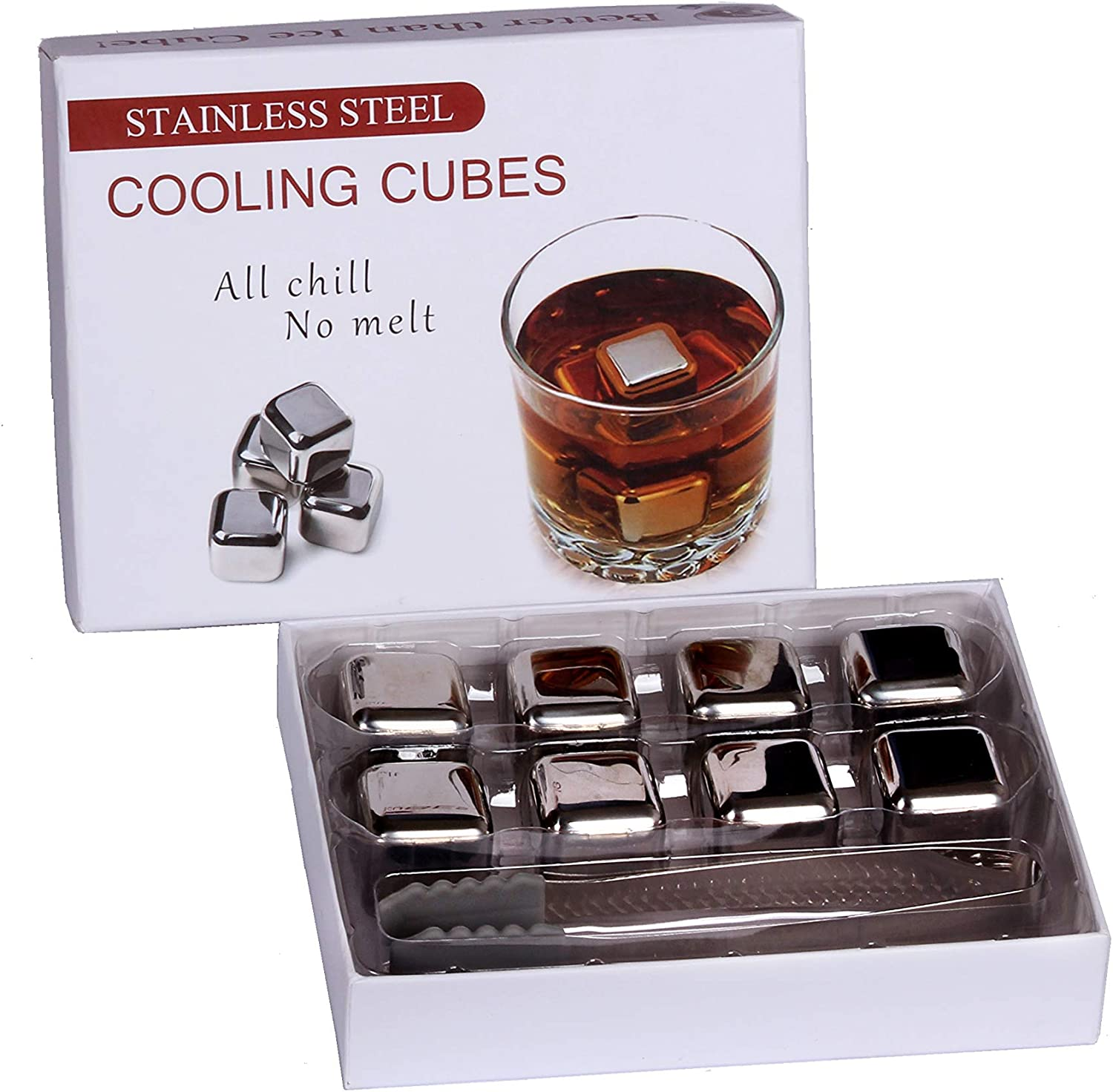 Stainless Steel 8-Piece Cooling Cubes