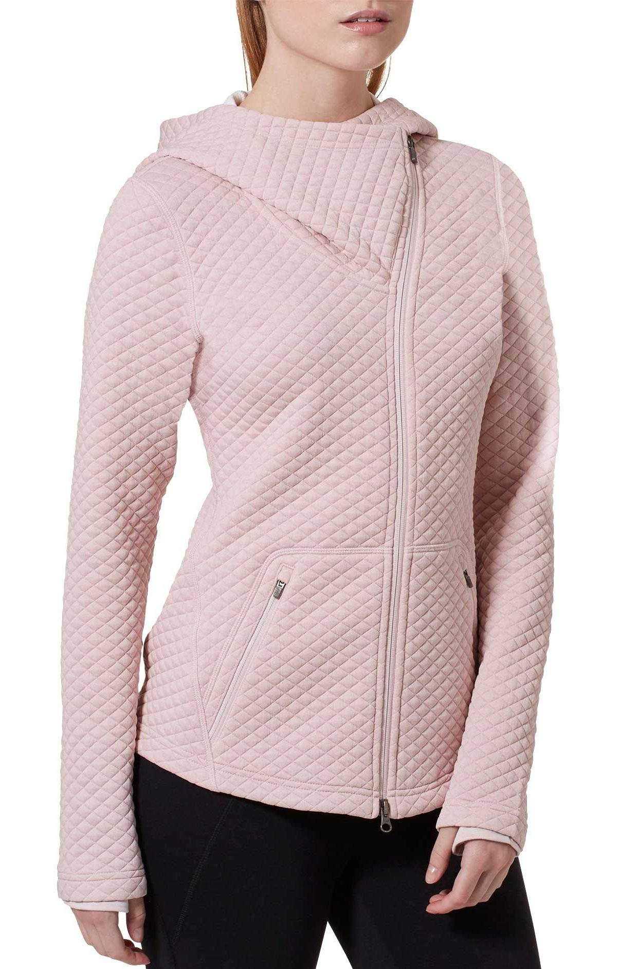 New Balance Women's Heat Loft Asymmetrical Full-Zip Jacket (XS, Pink)