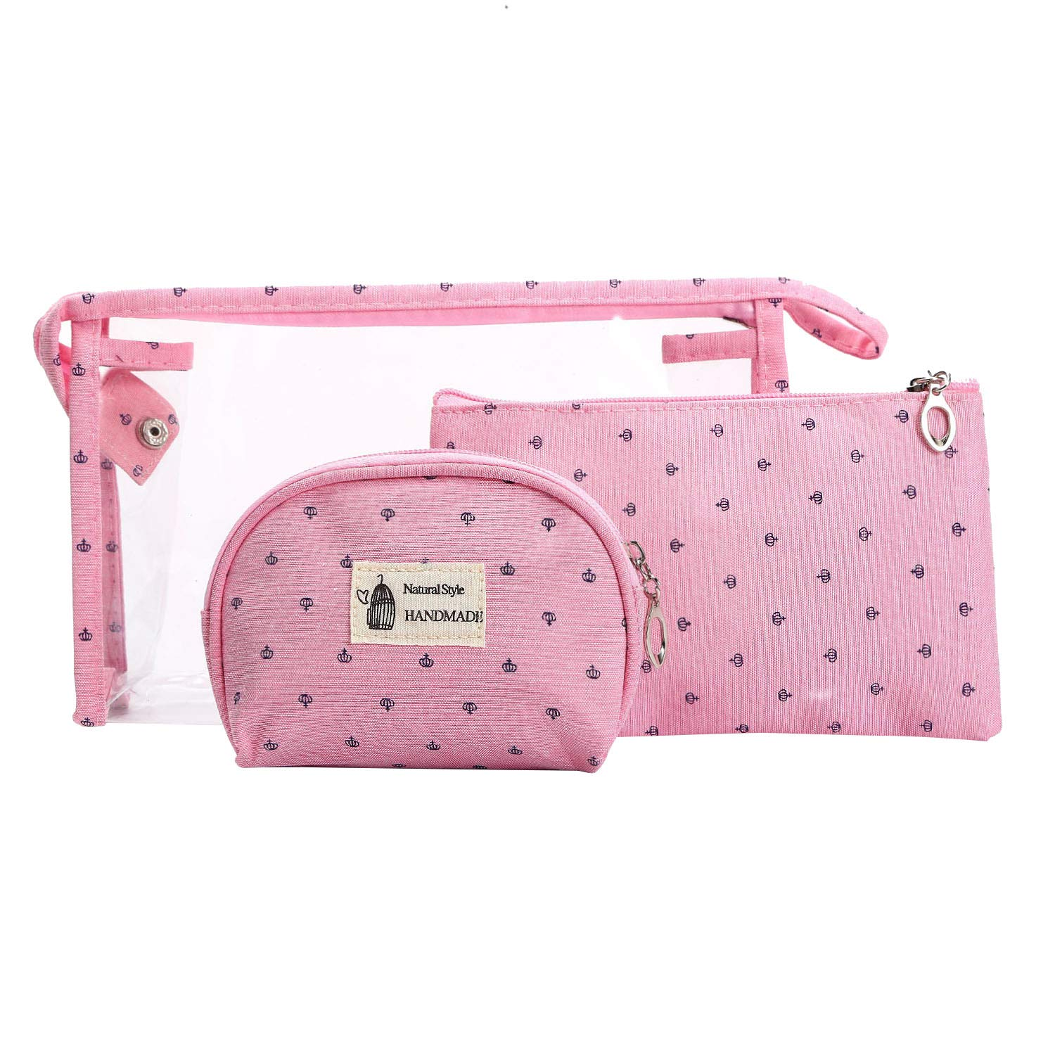 3d5046374916 Amazon.com : HOYOFO Portable Cosmetic Bags Set of 3 Different Sizes ...
