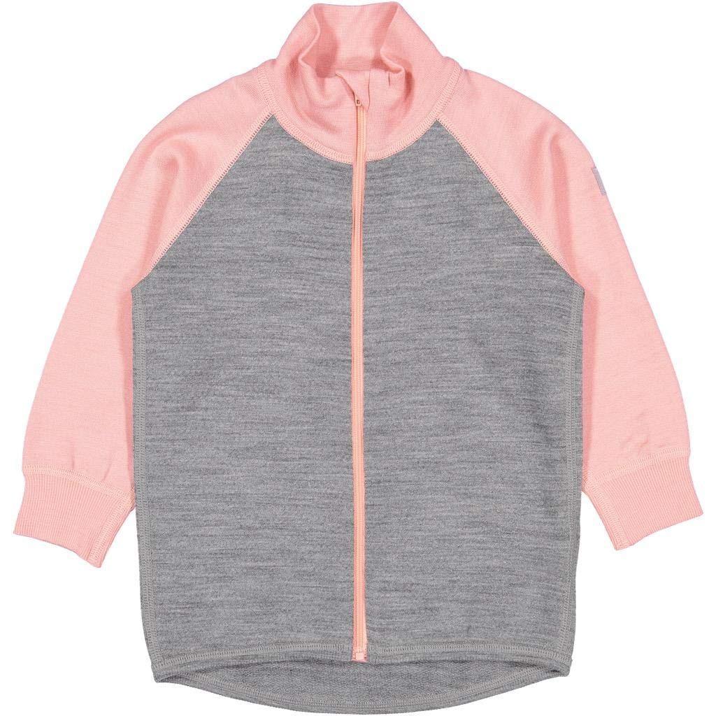 Polarn O. Pyret Wool Terry Zip UP Sweater (Baby) - 6-12 Months/Mellow Rose by Polarn O. Pyret