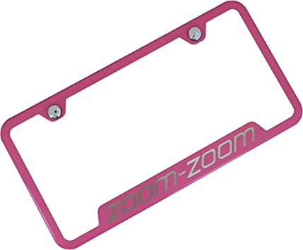 Mazda Zoom Zoom Notched Chrome Stainless Steel License Plate Frame