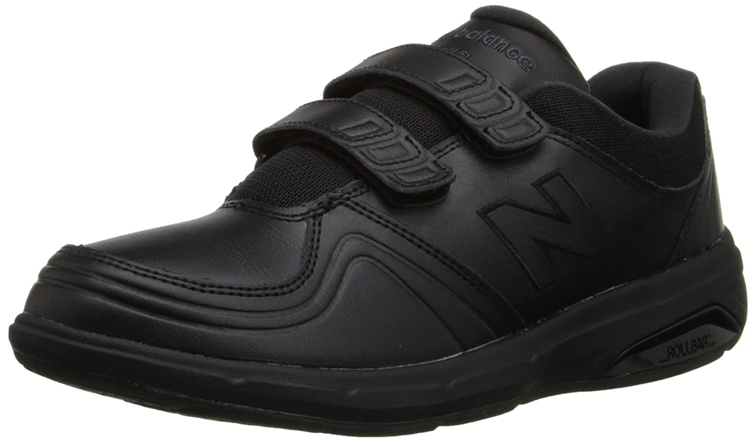 New Balance Women's WW813 Hook and Loop Walking Shoe B00OB1SIEE 9.5 D US|Black