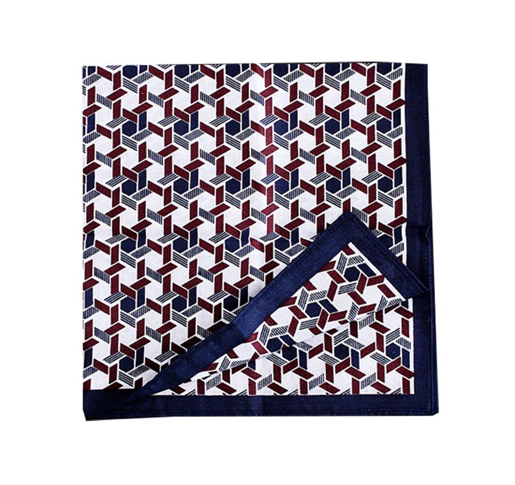 Lovely Item Men's Soft Floral Print Cotton Party Square Pocket Handkerchief