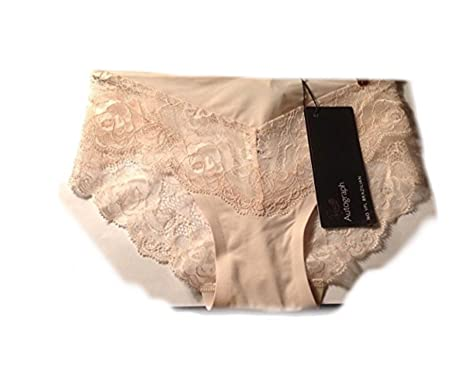 c2d652850df7 Marks and Spencer Rosie Autograph No VPL Champagne Brazilian Knickers  French Designed Rose Lace & Silk