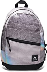 Rareform Recycled Waterproof Billboard turned Backpack with Durable Padded Back Straps (Gray Rainbow)