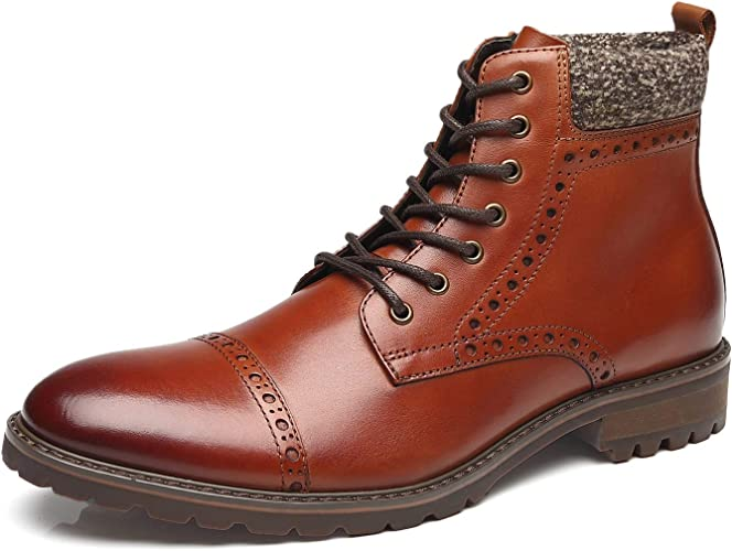 nice cheap sale vast selection Amazon.com | La Milano Men's Leather Cap Toe Lace Up Winter Casual ...