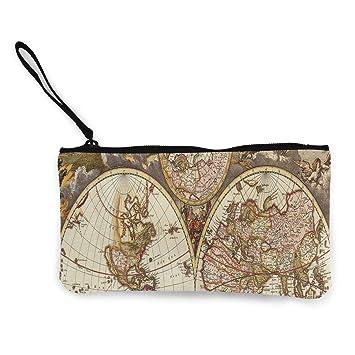 Monedero vintage con diseño de mapamundi, papel pintado ...