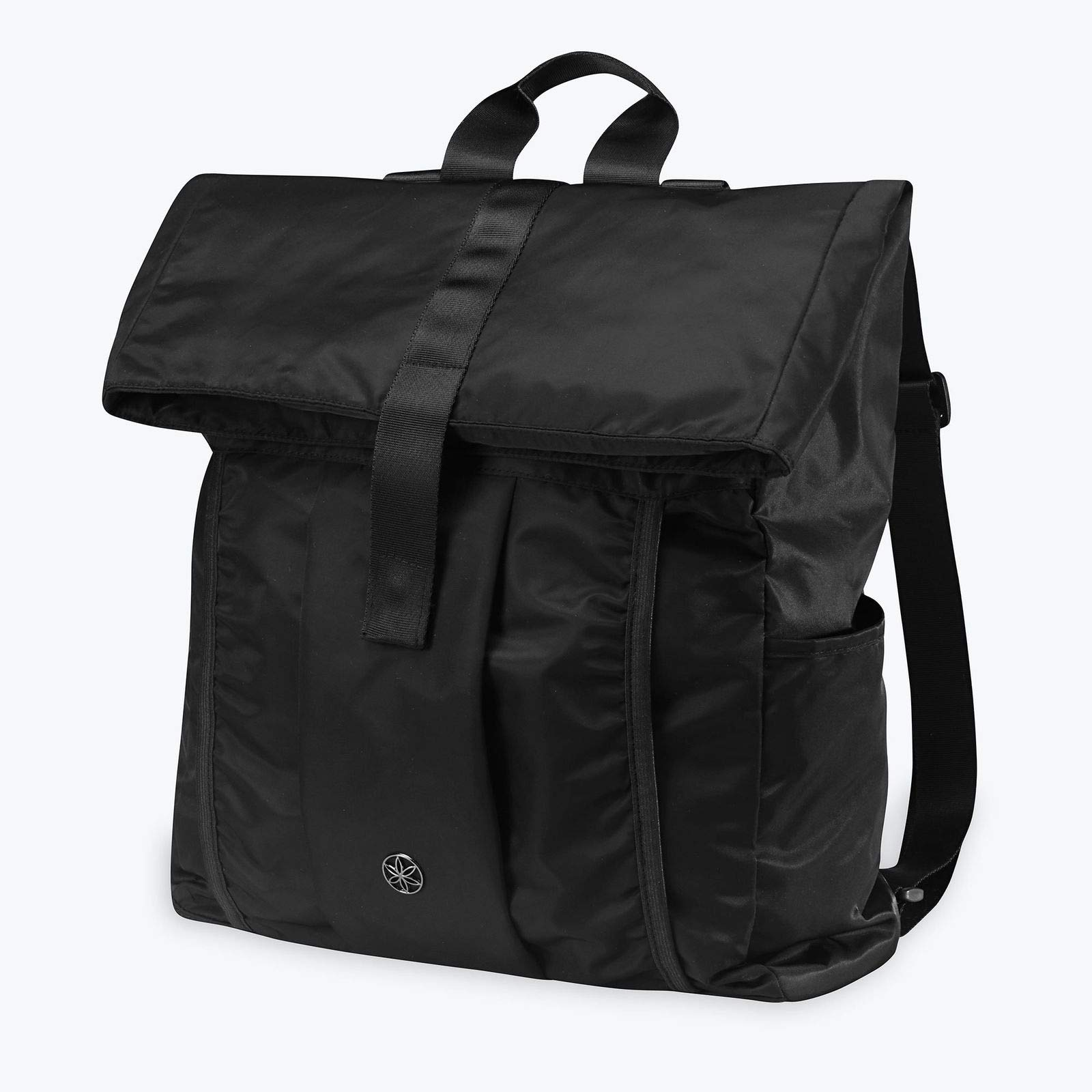 MRT SUPPLY Hold Everything Pilates Yoga Mat Fitness Carry Travel Bag Backpack, Black with Ebook