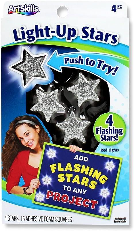 Artskills Schaumstoff Wiederverwendbar Poster Flash Star Led Lichter