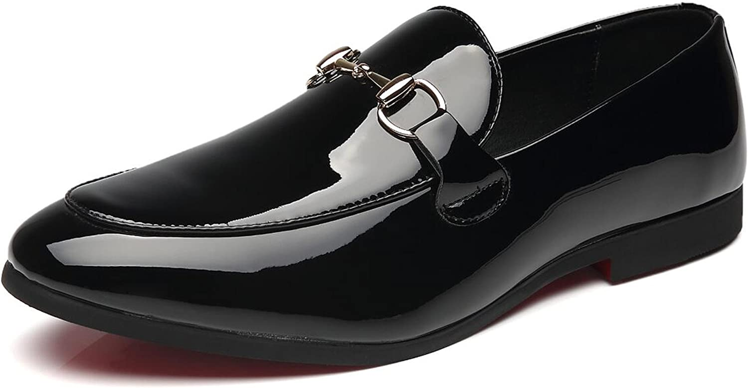 New Men/'s Black Slip On Patent Leather Tuxedo Formal Event Dress Shoes By AZAR