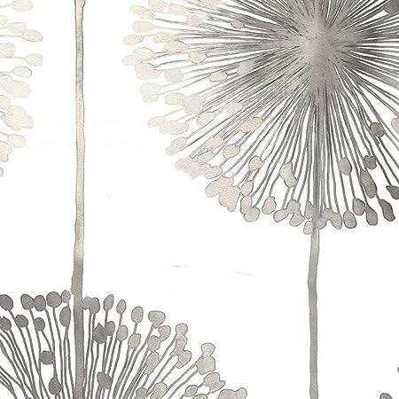 Dandelion Wallpaper Colour Silver