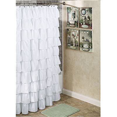 1pc Gypsy Ruffled Fully Stitched Curtain Panel Drape Window Treatment Or Shower In 25 Colors