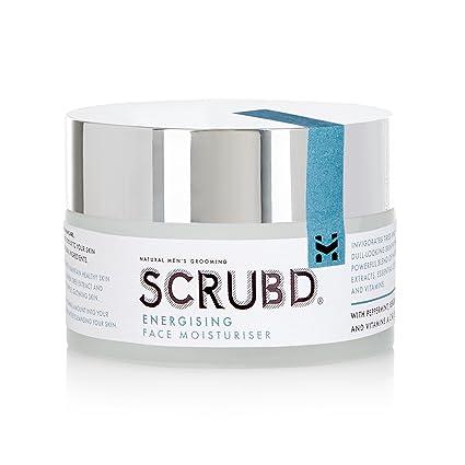 SCRUBD Potente hidratante para hombre de cara energizante para todo tipo de naturaleza. Con vitaminas