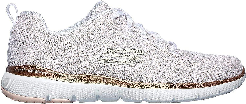 Skechers Flex Appeal Womens Low Sneaker White Blanc