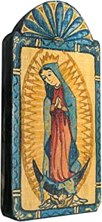 product image for Modern Artisans Our Lady of Guadalupe Handmade Patron Saint Retablo Plaque, 3.5 x 7.25 Inches
