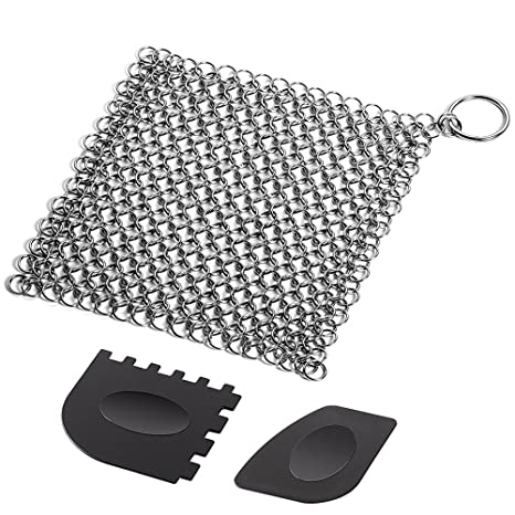 SENHAI - Limpiador de hierro fundido con rejilla de plástico duradero, para chinchetas de 7