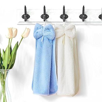Sanli lazo toalla, toalla, absorbente toallas para colgar los niños pequeños de bolsillo para