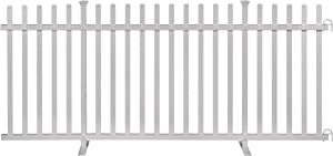 Zippity Outdoor Products ZP19026 Lightweight Portable Vinyl Picket Fence Kit w/Metal Base(42