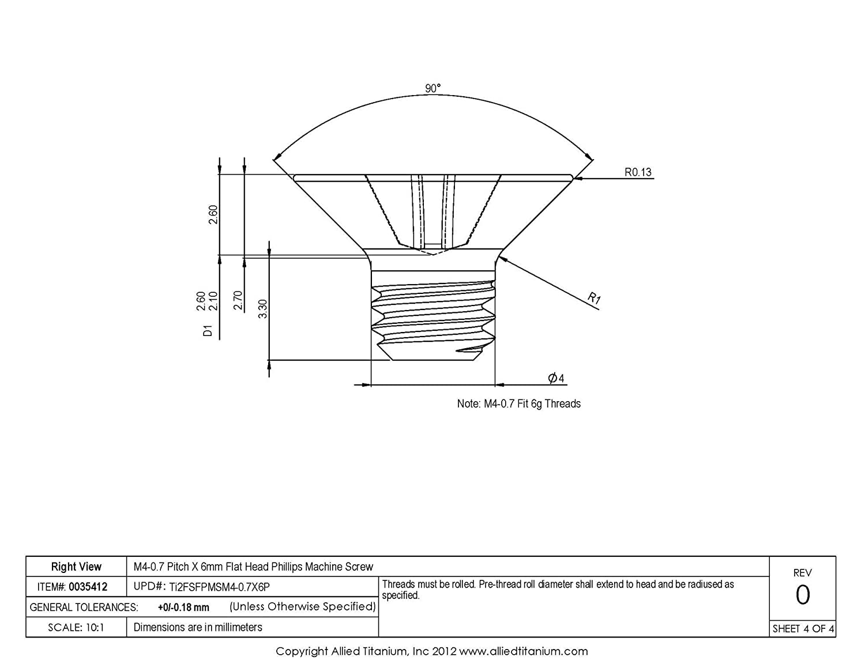The Hillman Group 45330 M4-0.70 x 8 Metric Stainless Steel Socket Cap Screw 10-Pack