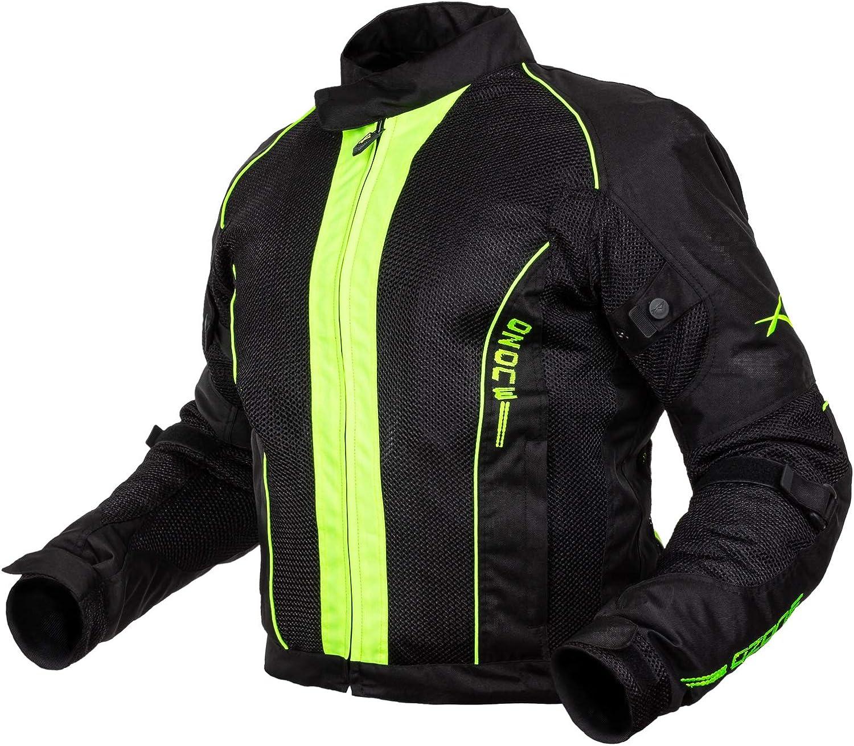 Giacca Mesh Traforato Traspirante Tessuto Tecnico Moto Touring Sport Rosso XXL
